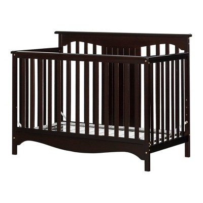 Savannah Baby Crib 4 Heights with Toddler Rail - Espresso - South Shore