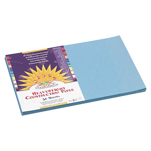 SunWorks® Construction Paper, 58 lbs, 12 x 18 - Blue (50 Sheets Per Pack) - image 1 of 1