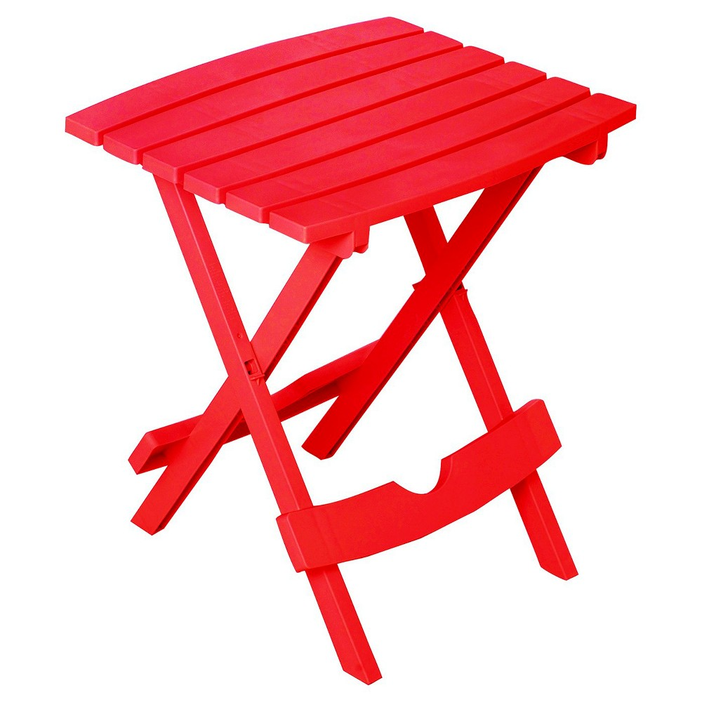 Image of Quick Fold Side Table Cherry Red - Adams, Red Red