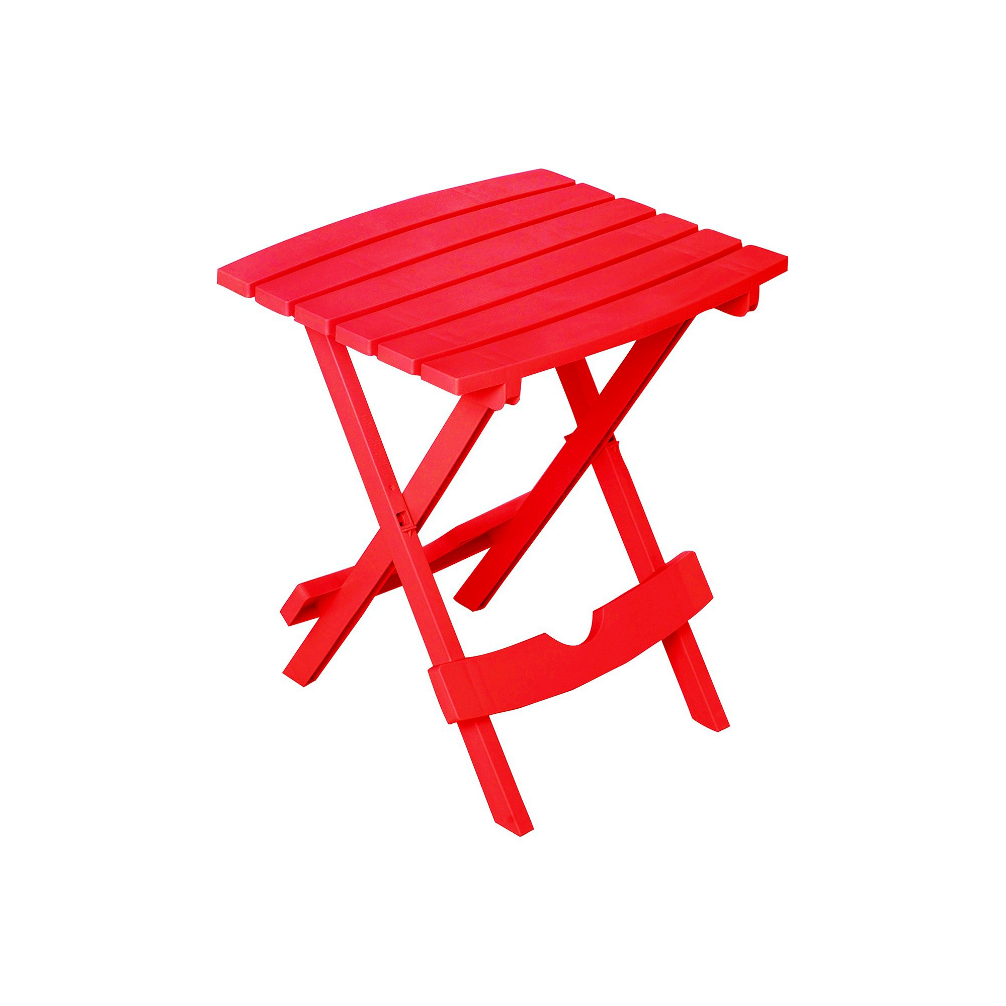 Adams Quick Fold Side Table - Cherry Red