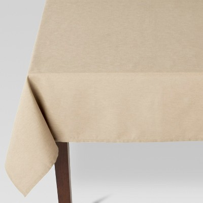 84 x60  Solid Tablecloth Tan - Threshold™