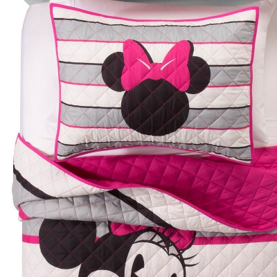 b04f879bb8c Mickey Mouse & Friends® Minnie Mouse Pink & White Throw Blankets (46 ...