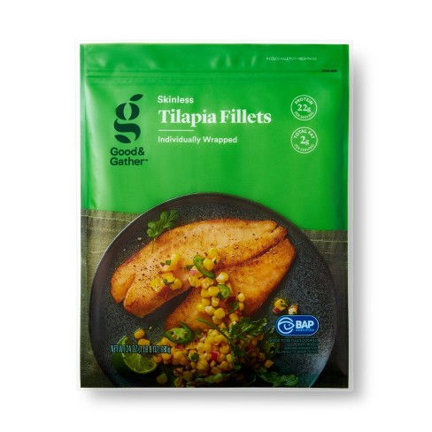 Tilapia Skinless Fillets Frozen 24oz Good Gather Target
