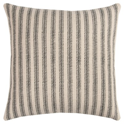 """20""""x20"""" Oversize Ticking Striped Square Throw Pillow - Rizzy Home"""
