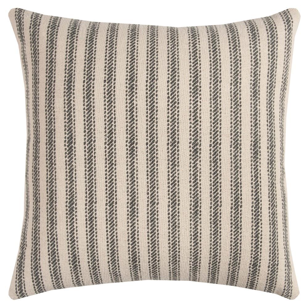 Throw Pillow Vintage Ticking Stripe