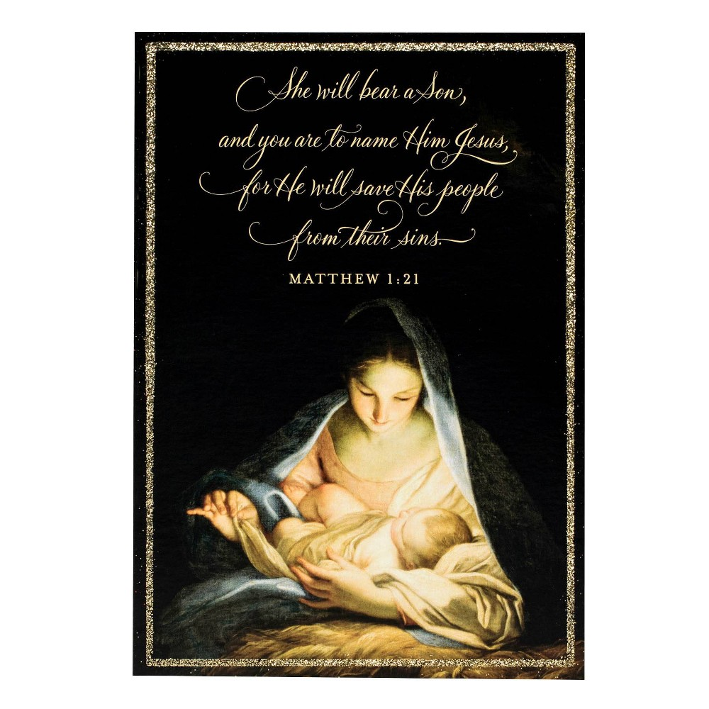 Image of 14ct Madonna Mary Greeting Cards - Dayspring