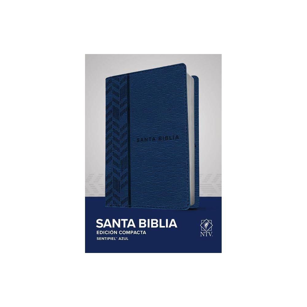 Santa Biblia Ntv Edici N Compacta Sentipiel Azul Leather Bound