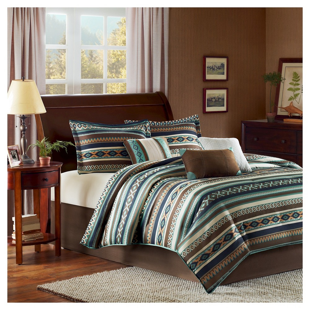 Blue Beau Comforter Set Queen 7pc 7pc