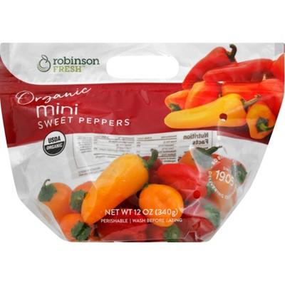 Organic Mini Sweet Peppers - 12oz Bag