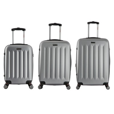 InUSA Philadelphia 3pc Hardside Spinner Luggage Set 19 & 23 & 27  - Gray
