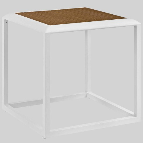 Stance Outdoor Aluminum Patio Side Table White - Modway - image 1 of 3