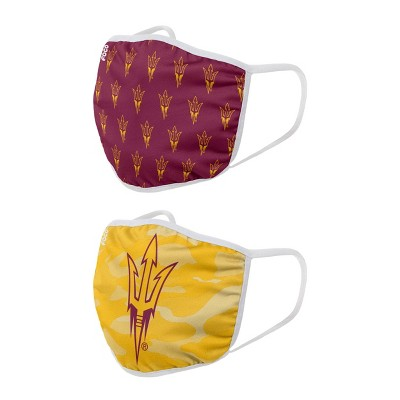 NCAA Arizona State Sun Devils Youth Clutch Printed Face Covering 2pk