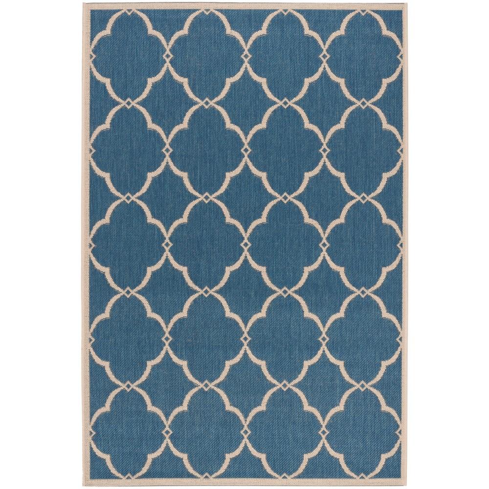 4'X6' Geometric Loomed Area Rug Blue/Cream (Blue/Ivory) - Safavieh