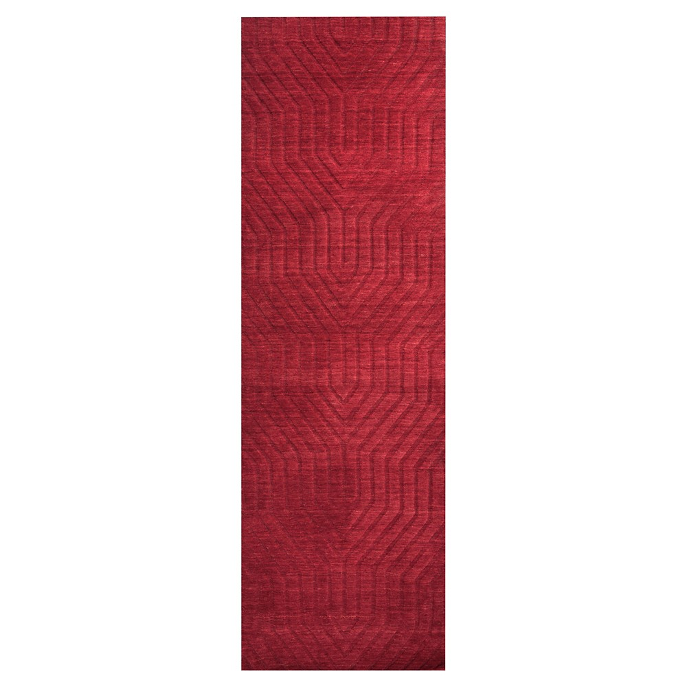 "Image of ""2'6""""X8' Solid Runner Red - Rizzy Home, Size: 2'6""""X8' RUNNER"""