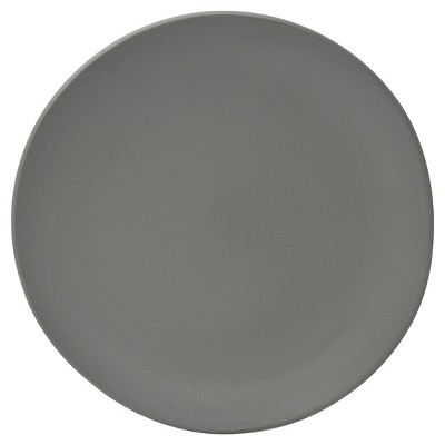 10 Strawberry Street Matte Wave Stoneware Dinner Plates 10.8  Gray - Set of 6