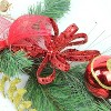 "Northlight 6' x 10"" Unlit Red Burlap and Gold Pinecone Artificial Christmas Garland - image 2 of 3"