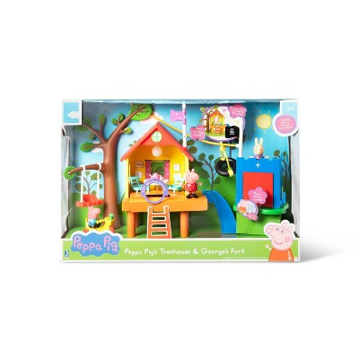 Peppa Pig's Treehouse and George's Fort Playset