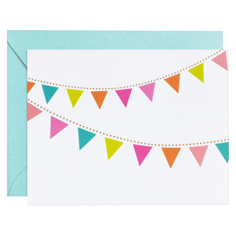 meant to be sent Party Pennants Notecards 8 ct, Multi-Colored
