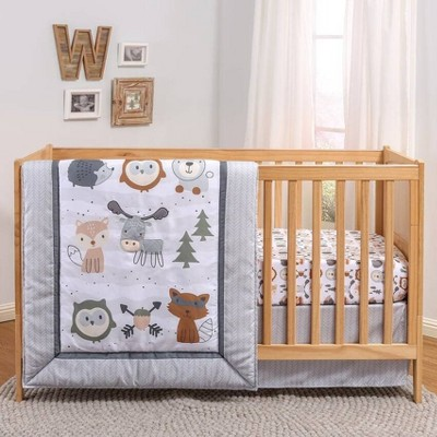 PS by The Peanutshell Woodland Walk Crib Bedding Set - 3pc