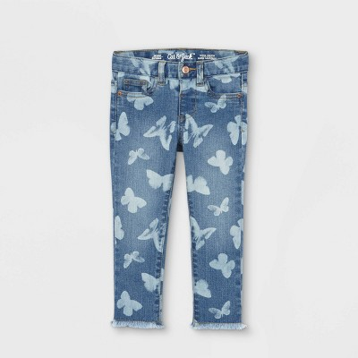 Toddler Girls' Butterfly Print Jeans - Cat & Jack™ Blue
