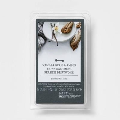 3pk Cozy Vanilla and Amber Wax Melt Cashmere Seaside Driftwood - Threshold™