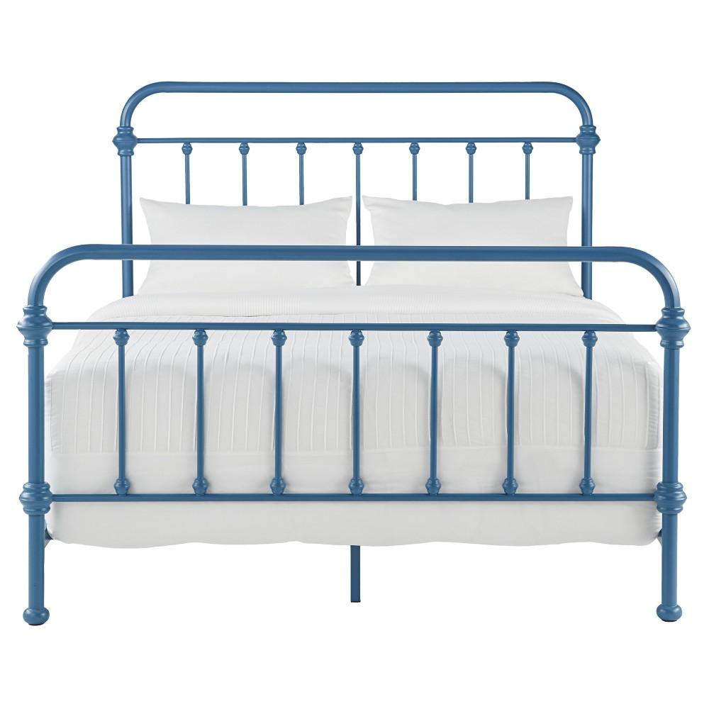 Tilden Ii Vintage Metal Bed - King - Blue steel - Inspire Q, Bluesteel