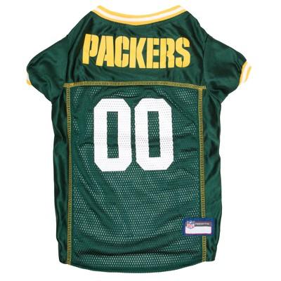 Green Bay Packers Pets First Mesh Pet Football Jersey - Green M
