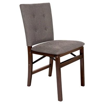 Set of 2 Parson's Folding Chair - Espresso/Jax - Stakmore