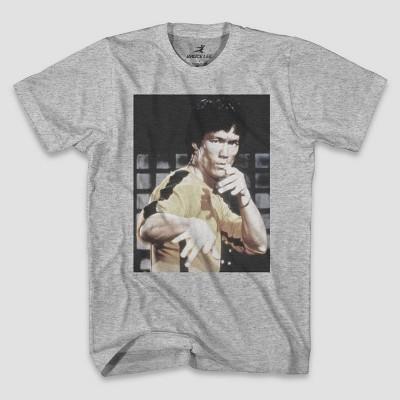 Men's Bruce Lee Short Sleeve Graphic T-Shirt - Heather Gray