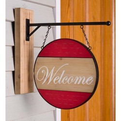 Wooden Sign With Interchangeable Messages, Red - Plow & Hearth