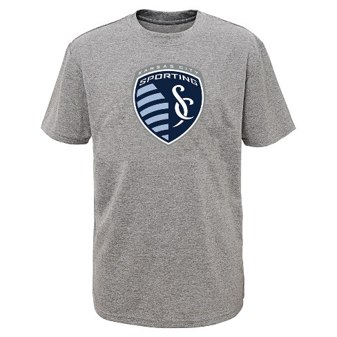 Boys' Short Sleeve Penalty Kick Gray Performance T-Shirt Sporting Kansas City - image 1 of 1