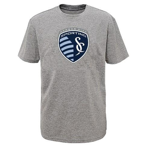f17a791a Boys' Short Sleeve Penalty Kick Gray Performance T-Shirt Sporting Kansas  City M