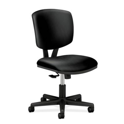 Volt SofThread Leather Task/Office Chair Black - HON