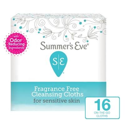 Summer's Eve Fragrance Free Feminine Cleansing Wipes