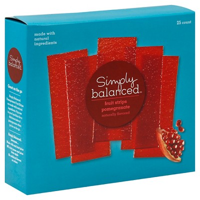 Pomegranate Fruit Strips 25ct - Simply Balanced™