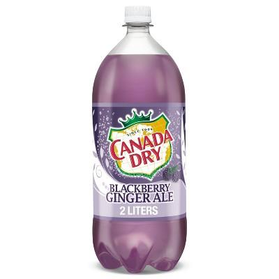 Canada Dry Blackberry Ginger Ale Soda - 2 L Bottle