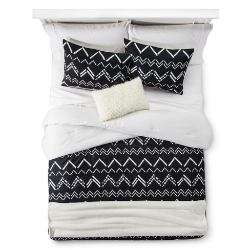 Black Chevron Stripe Comforter Set Room Essentials Target
