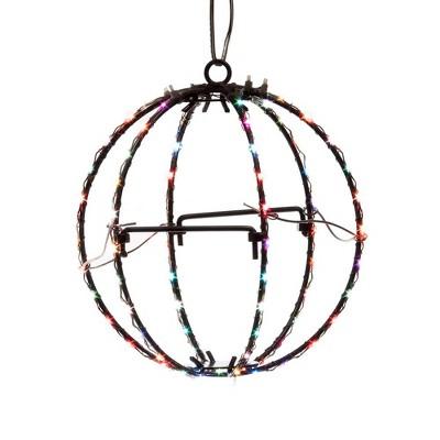 "Kurt Adler 6"" RGB LED Foldable Metal Sphere"
