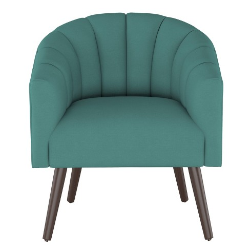 Sensational Modern Barrel Chair In Linen Laguna Green Project 62 Bralicious Painted Fabric Chair Ideas Braliciousco