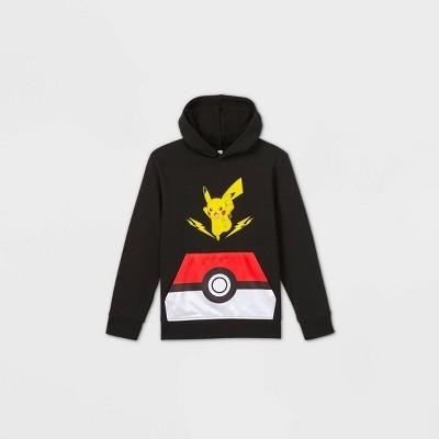 Boys' Pokemon Pickachu Pullover Sweatshirt - Black
