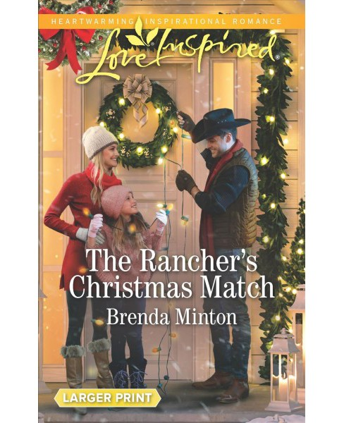 Rancher's Christmas Match -  Large Print by Brenda Minton (Paperback) - image 1 of 1