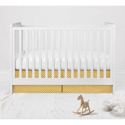 Bacati - Pin Dots Crib/Toddler Bed Skirt - Yellow