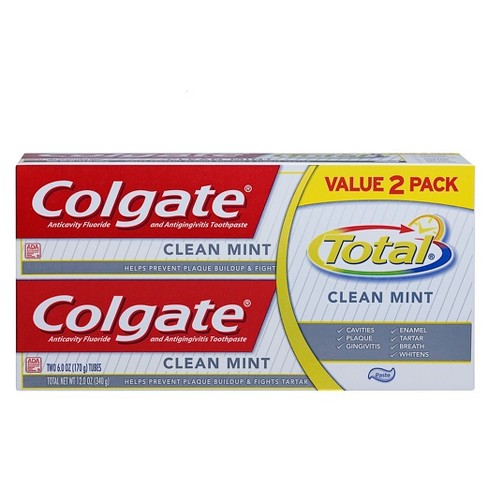 Colgate Total Clean Mint Toothpaste - 6oz/2pk - image 1 of 2