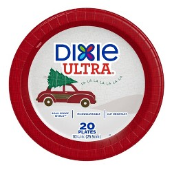 "Dixie Ultra 10 1/16"" Holiday Paper Plates - 20ct"