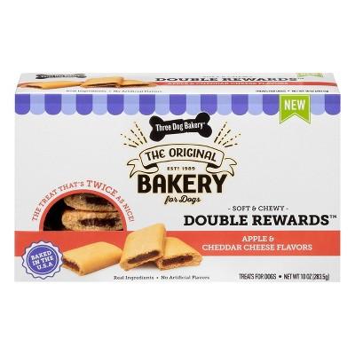 Three Dog Bakery Double Rewards Chewy Dog Treats - 10oz