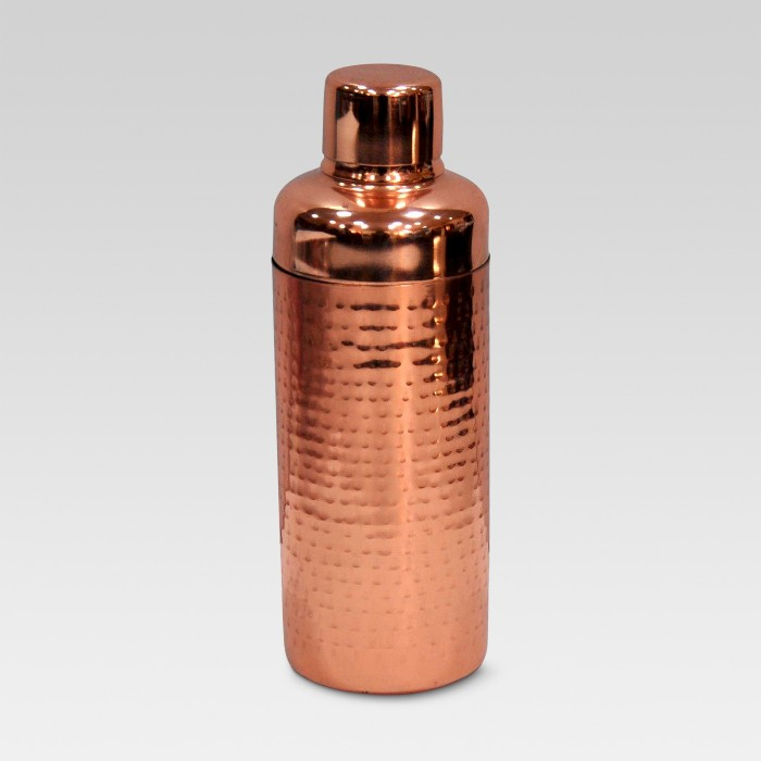 Hammered Cocktail Shaker Copper - Threshold™ - image 1 of 4