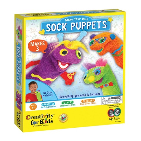 Creativity for Kids Make Your Own Sock Puppets - image 1 of 4