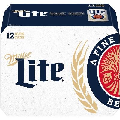 Miller Lite Beer - 12pk/16 fl oz Cans