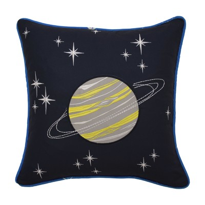 Space Adventure Embroidered Throw Pillow (15 x15 )- Waverly Kids