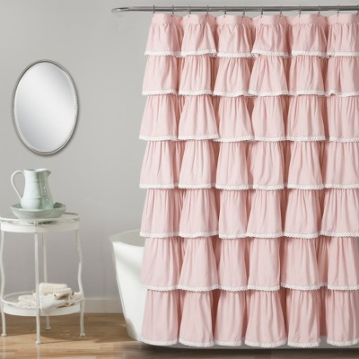 "72""x72"" Ruffle Shower Curtain - Lush Décor"